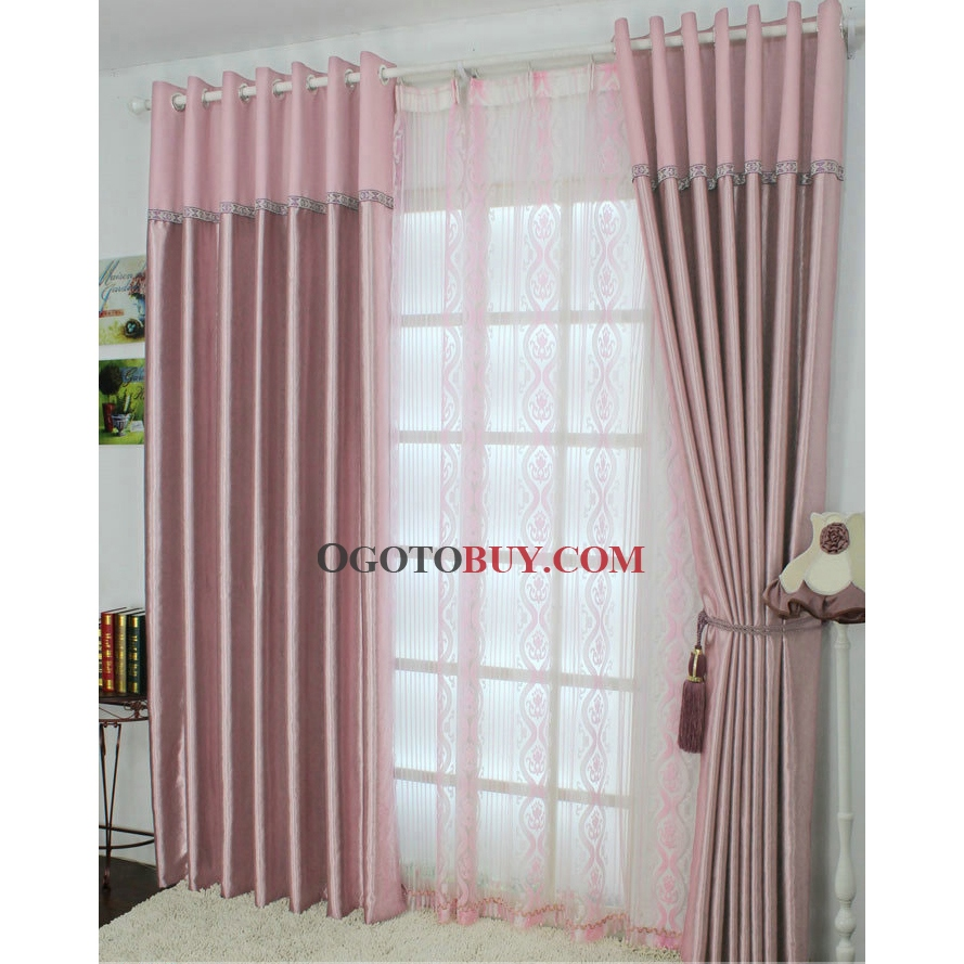 Sweet Pink Curtains Features with Floral Patterns