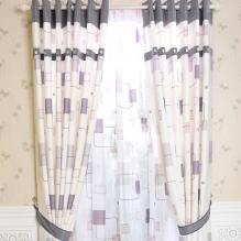 2013 Classic Geometrical Cotton Blending Blackout Curtains