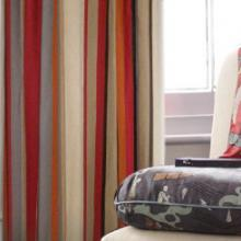 2013 Country Multi-color Blackout Curtains Made of Linen and Cotton (Two Panels)