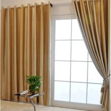 2013 High-end Flocking Polyester Champagne Curtains