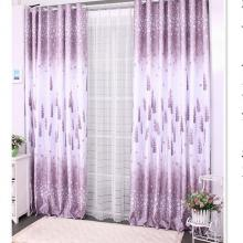 2013 Hot Sale Lavender Curtains of Poly and Yarn Blending