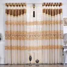 2013 Hot Water Dissovling Lace Poly Ivory Curtains