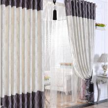 2013 New Arrival Lines Printed Jacquard Applique Curtains