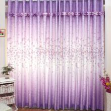 2013 Romantic Floral Purple Curtains Made of Poly