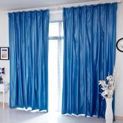 2013 Stylish Draped Thermal and Blackout Curtains in Blue