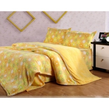 4-piece Yellow Sunflower Pattern Bed-in-a-bag with Sheet Set
