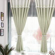 Affordable Lace Plaid Half Curtains with Polka Dots at Top
