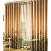 Affordable Wholesale Brown Patterned Modern widely Curtains
