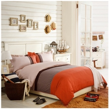 American Contracted Wind Cotton 4-piece Duvet Cover Set in Orange