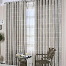 American Style Poly and Artificial Fiber Striped Curtains
