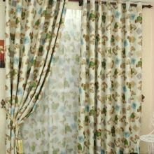 Amusing Duplex Printing Yarn and Cotton Blend Children Curtains