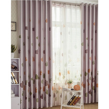 Apple Patterns Eco-friendly Poly Fabric Wholesale Curtains