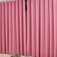 Beautiful Blackout Curtains in Pink Made of Polyester