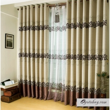 Beautiful Botanical Printed Eco-friendly Ivory Curtains (Two Panels)