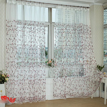 Beautiful Embroidery Floral White Sheer Curtains of Polyester