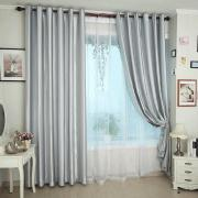 Beautiful Polyester Energy Saving Silver Curtains for Thermal Function