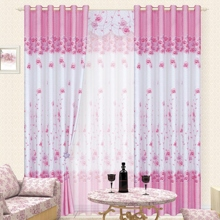 Beautiful Rose Patterns White Polyester Eco-friendly Curtains