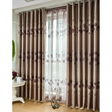 Beautiful Rose Printing Polyester Blackout Luxury Curtains