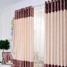 Beautiful Water Wave Printed Blackout Curtains in Brick Red