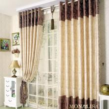 Bedroom Style Brown and Camel Blended Thermal Curtains