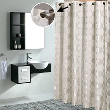 Big Jacquard Waterproof Bathroom Cool Shower Curtains