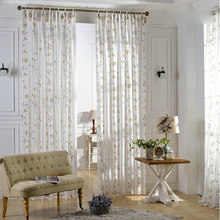 Birds and Leaf Design Modern Sheer Curtains