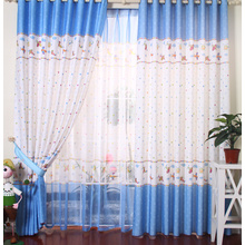 Blue Cute Children Room Kids Curtains On Sale
