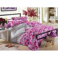 Bright Floral Style 4-piece Bed-in-a-bag in Grey