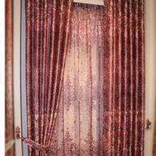 Burgundy Polyester Blackout Curtains for Fancy Taste