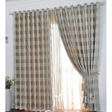 Casual Silver Gingham Totally Blackout Curtains