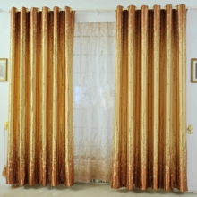 Charming Yellow Botanical Polyester Eco-friendly Curtains