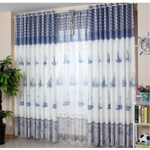 Cheap Custom Nautical Boys Room Modern Blue Curtains