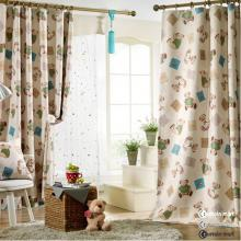Cheap Thermal Fiber and Cotton Cute Bear Lined Curtains