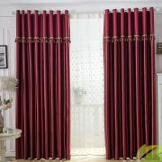 Chic and Hot Red Polyester Blackout and Thermal Curtains