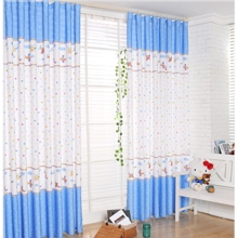Childlike Little Stars Airplans White Eco-friendly Kid Curtains
