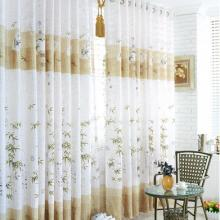 Chinese Stye Bamboo Printed Patterns Blackout Curtains (Two Panels)