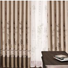 Chinese Style Bamboo Striped Living Room Curtains in Camel