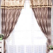 Classic Geometrical Lineated Blackout and Sound-absorption Curtains