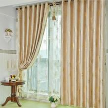 Classic Gold Poly and Fiber Curtains for Blackout