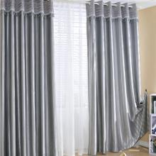 Classic Lined Blackout Heavy Grey Curtains