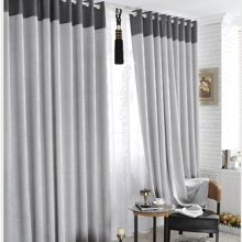 Classic Linen/Polyester Blend Eco-freidnly Grey Curtains (Two Panels)