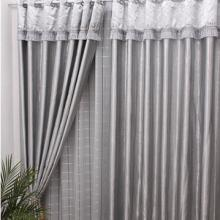 Classic Polyester Blackout Curtains in Silver