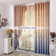 Coffee Noble Generous Modern Jacquard Ploy/Cotton Blend Porch Curtains