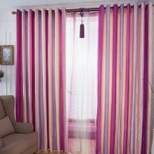 Colorful Energy Saving Bright Pink Lined Cotton Curtains