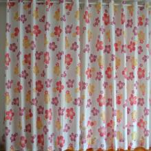 Cotton and Fiber Blended Blackout Curtains with Flowers