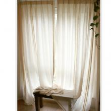 Cotton and Linen Country Style Lace White Curtains