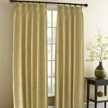 Country Bamboo Leaf Camel Blackout Eco-friendly Curtains (Two Panels)