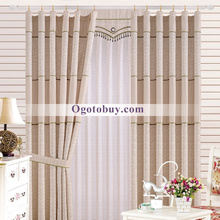 Country Floral Print Cotton and Polyester Curtains