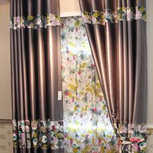 Country Floral Printing Blackout Curtains for Decoration