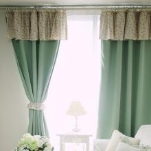 Country Fresh Green Cotton and Polyester Blackout Curtains